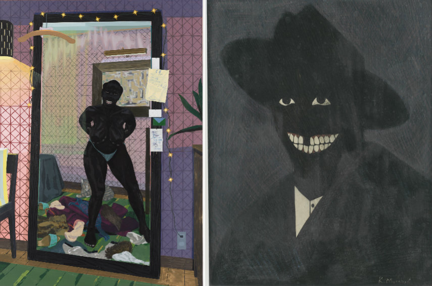 Search for Marshall works retrospective where marshall's painting fights for african rights