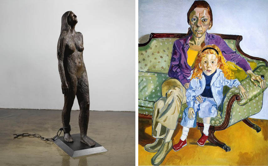 March 8th - Kiki Smith - Mary Magdalene, 1994, Alice Neel - Linda Nochlin and Daisy, 1973