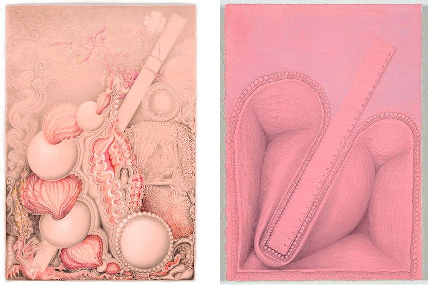 Left: Kinke Kooi - Measuring is Knowing, 2010 / Right: Kinke Kooi - Art and Science, 2013