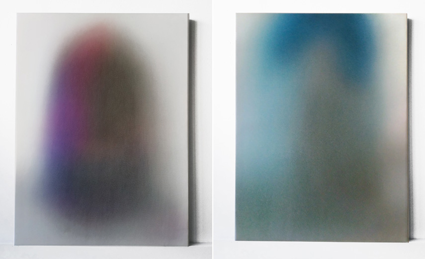 Left Kinu Kamura - Bloom of Youth, 2017 Right Kinu Kamura - Clear Skies, 2017