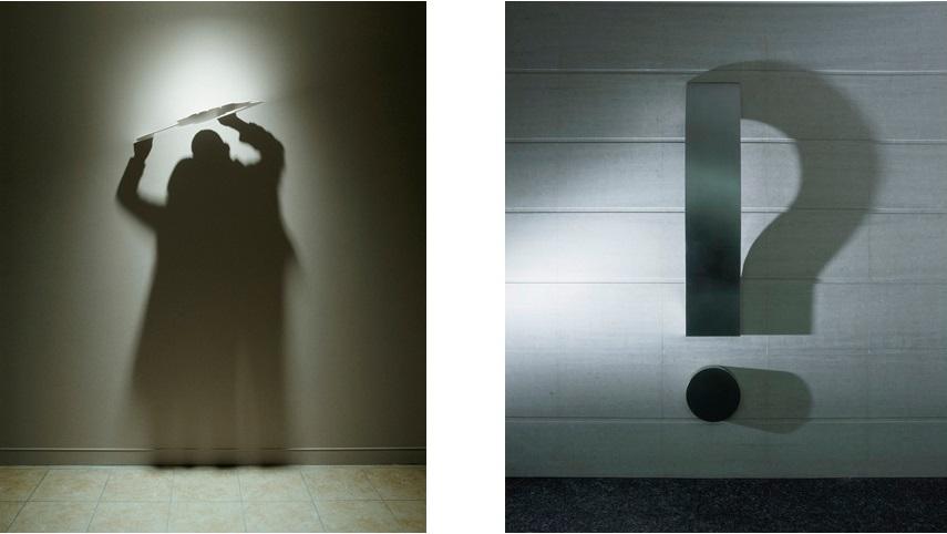 Left Kumi Yamashita - Clouds, 2005; Right Kumi Yamashita - Question Mark, 2003