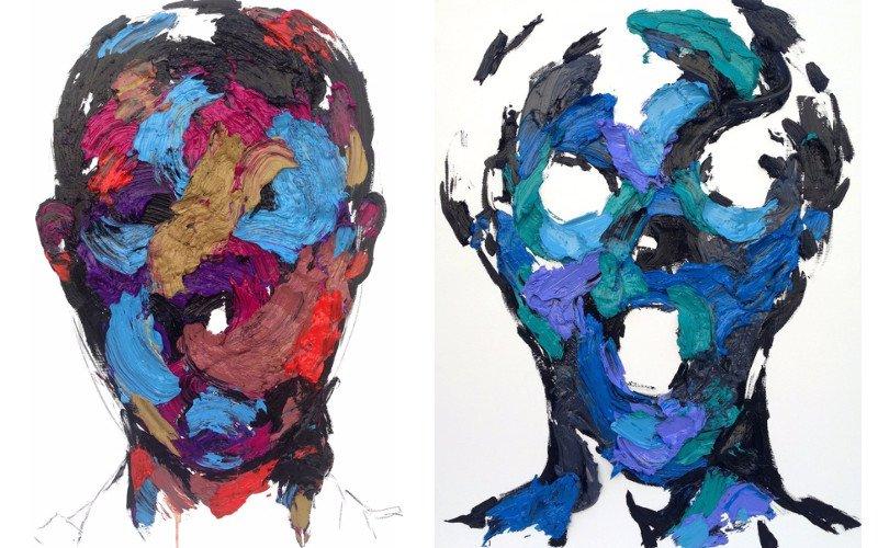 Left KwangHo Shin - Untitled # 14P24, 2014, Right KwangHo Shin - Untitled 14P28, 2014
