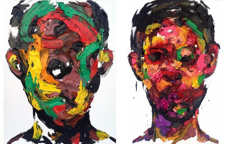 Left KwangHo Shin - Untitled #14P29, 2014, Right KwangHo Shin - Untitled #14P14, 2014