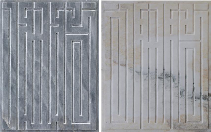 Left L'Atlas - Eternal Signs, 2018. 80 x 60 Right L'Atlas - Eternal Signs, 2018. 100 x 120