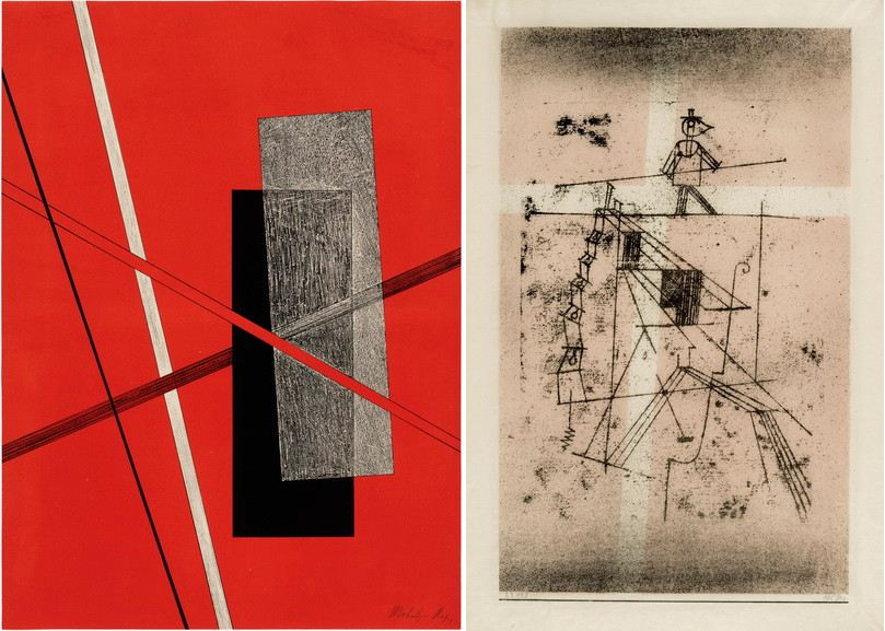 Left Laszlo Moholy Nagy - Untitled Right Right Paul Klee - Tightrope Walker