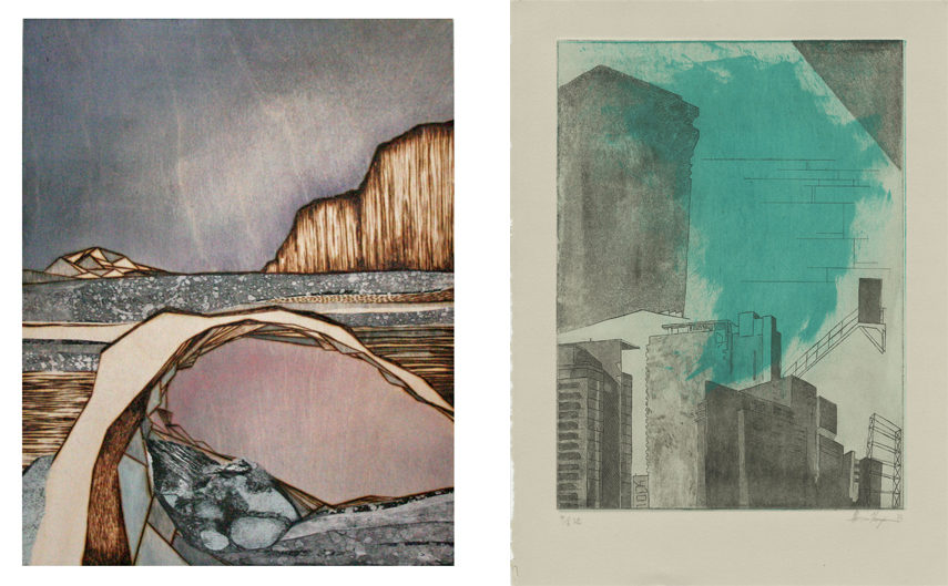 Left- LauraBydlowska - Escarpment Revisited 2016; Right-Alex Thompson - Varied Edition 4 2015