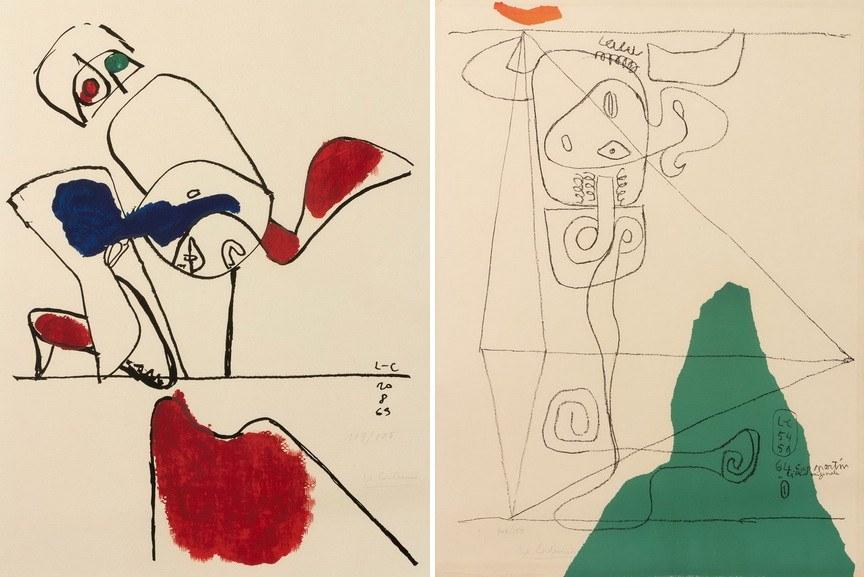 Left Le Corbusier -Taureau XVII Right Le Corbusier -Taureau I