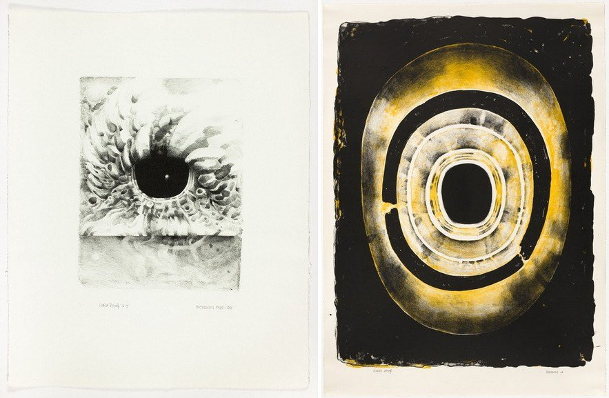 Left Lee Bontecou – Eighth Stone Right Lee Bontecou Fifth Stone