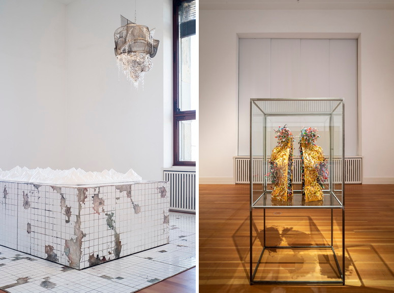 Left Lee Bul, Heaven and Earth, and Sternbau No. 2 Right Lee Bul - Plexus