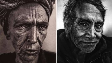 Left Lee Jeffries - Frankie Right Lee Jeffries, from the Portraits series