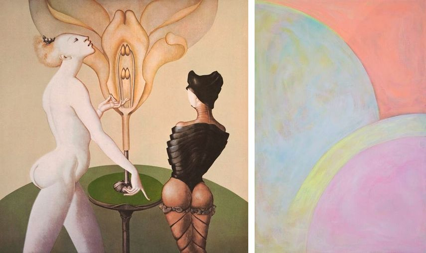 Leonor Fini - La Leçon de Botanique, 1973, Ryung Kal - Illusion, 2019 on view in france