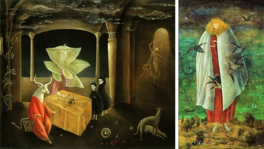 a painting by a surrealist artist and painter born in the UK who died in Mexico