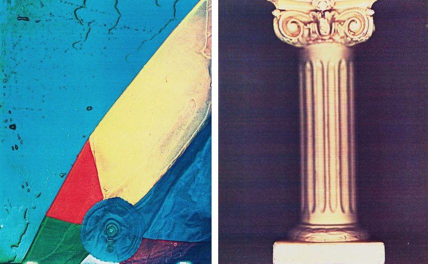 Lesley Schiff, Beachball, 1981, Columns, 1981
