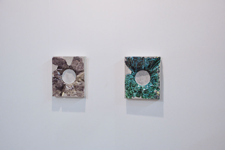 Left: Letha Wilson – Rock Hole Punch (Waimea Canyon), 2015 / Right: Letha Wilson, Rock Hole Punch (Kauai Green), 2015