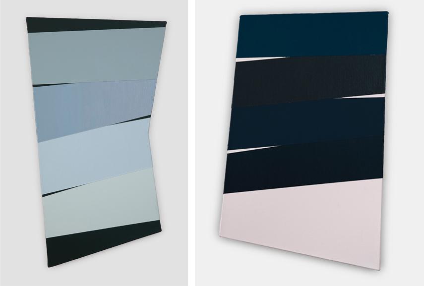 Left Li Trincere - Bl:blu, 2018 Right Li Trincere - pink:black, 2018