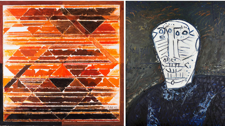 Left Lot 12 - Syed Haider Raza Right Lot 23 - Francis Newton Souza