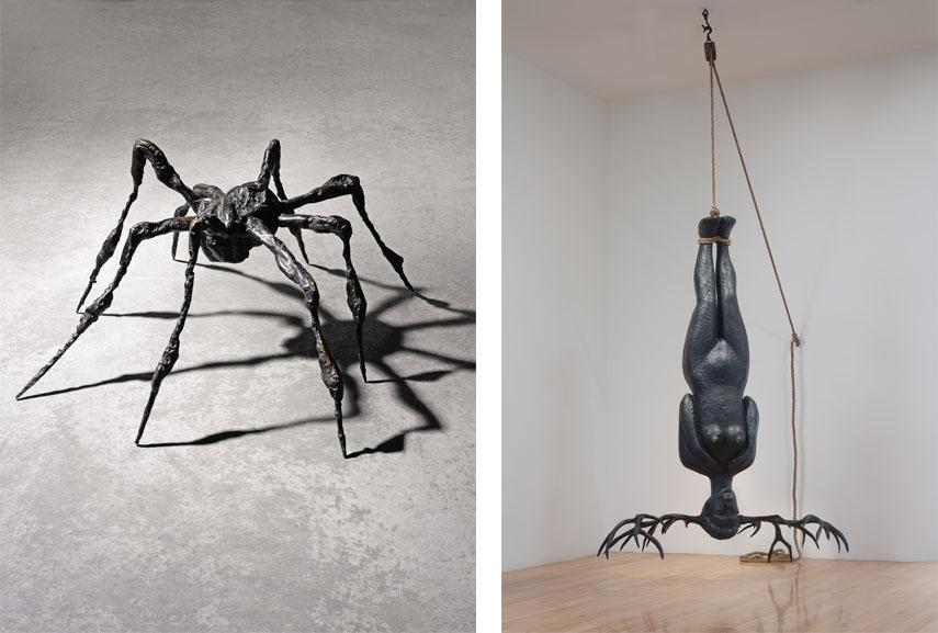 Left Louise Bourgeois - Spider III, 1995 Right Alison Saar - En Pointe, 2010
