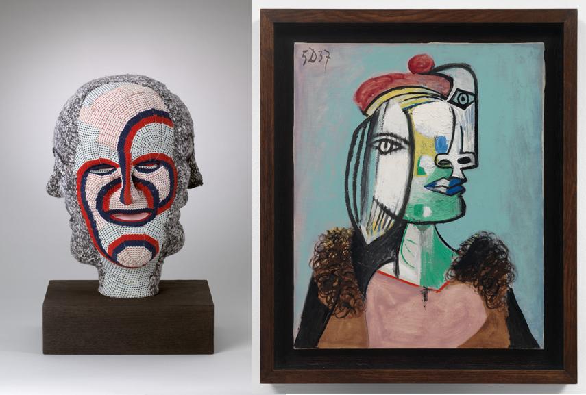 Left Louise Bourgeois - Untitled (detail) Right Pablo Picasso - Marie-Thérèse au béret rouge et au col de fourrure