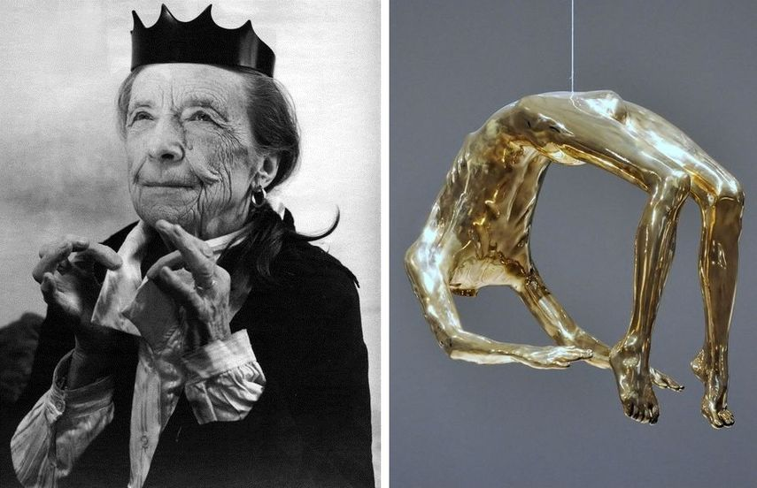 louise bourgeois's abstract work often explored the scary world of dreams. her abstract production often varied in size.