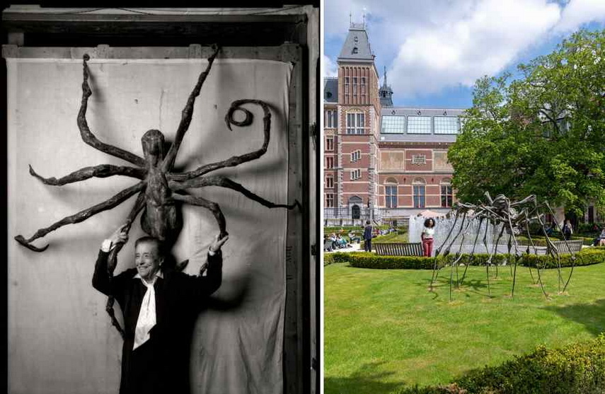 Left Louise Bourgeois with Spider IV Right Louise Bourgeois - Spider Couple