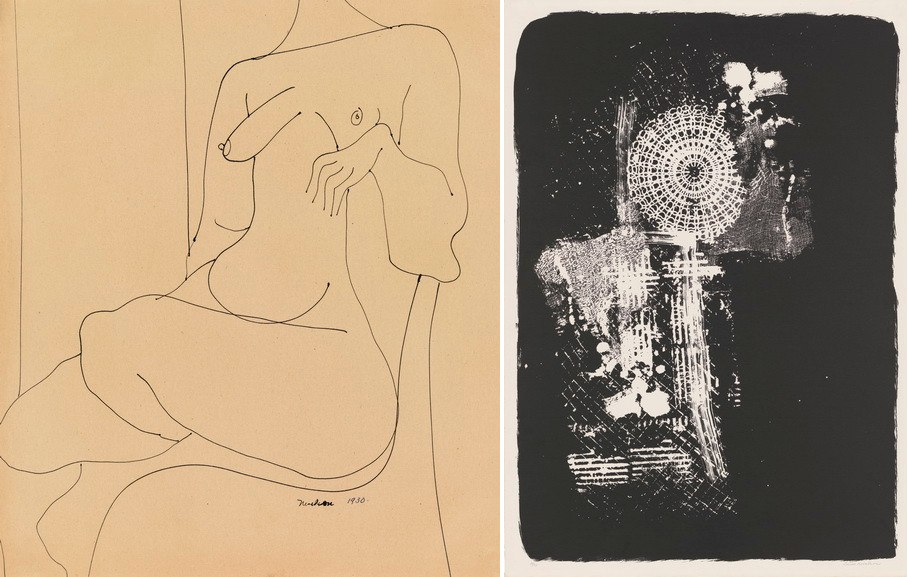 Left Louise Nevelson - Untitled Right Louise Nevelson - Untitled