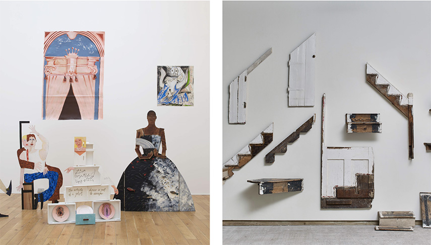 Left Lubaina Himid - A Fashionable Marriage Right Cornelia Parker - There must be some kind of way outta here