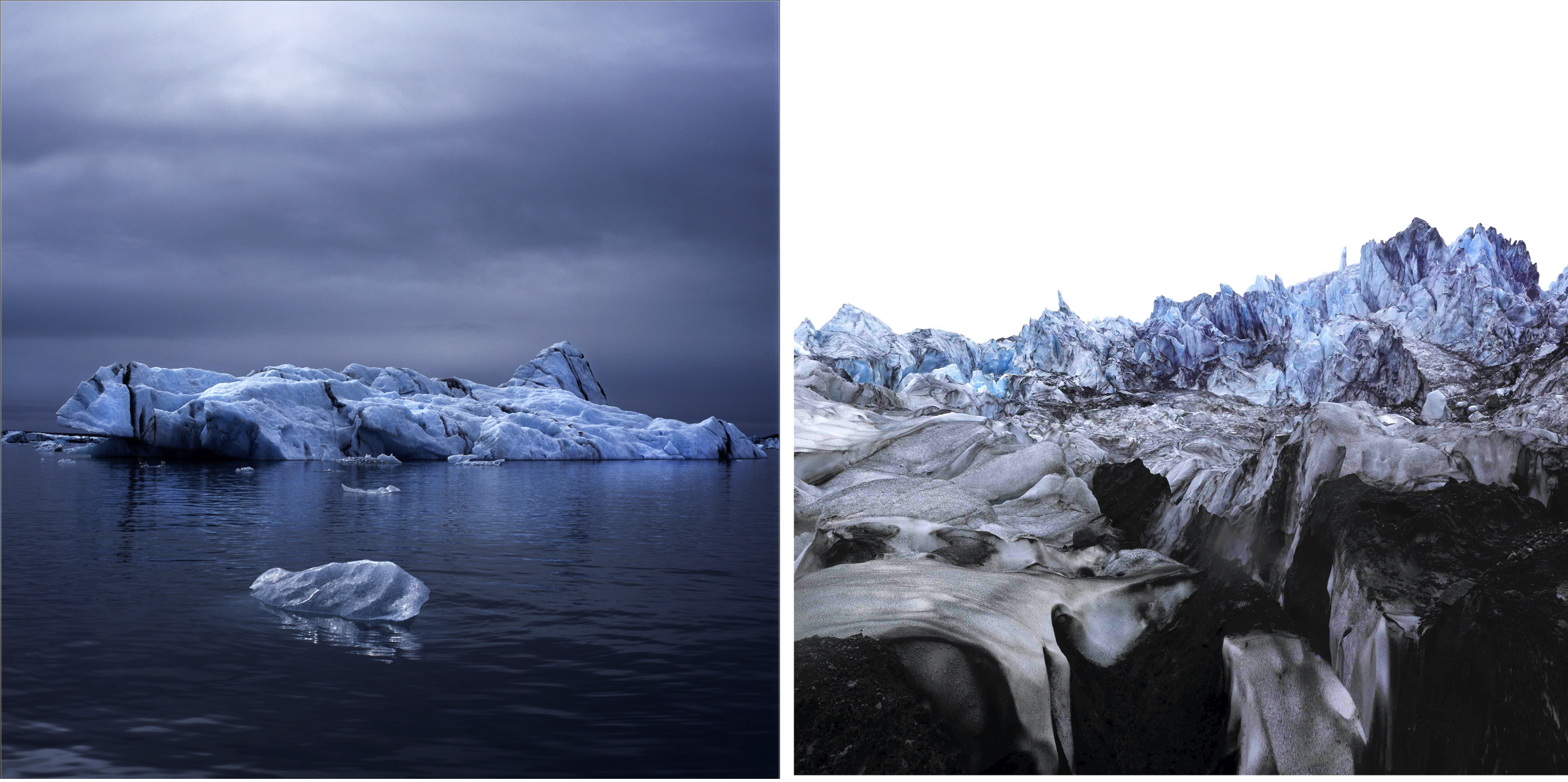 Left Luca Marziale Drifter, Testament Series Right Luca Marziale Glacier II, Testament Series