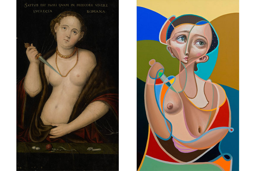 Left Lucas Cranach the Elder, Lucretia Right Belin, The Lucretia