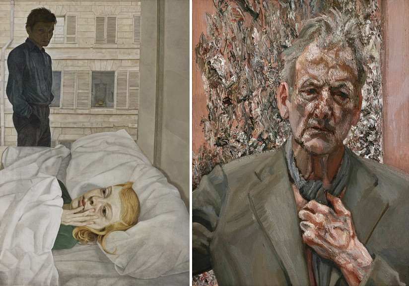 Left Lucian Freud - Hotel Bedroom Right Lucian Freud - Reflection