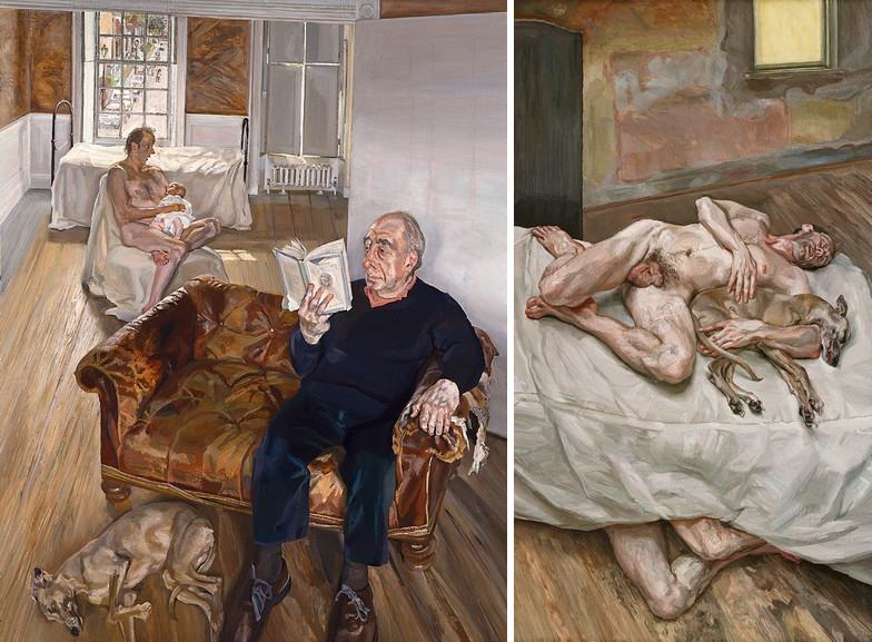 Left Lucian Freud - Large Interior Notting Hill Left Lucian Freud - Sunny Morning Eight Legs