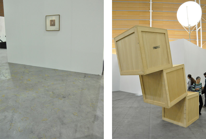 Left: Lupo Borgonuovo - Mandolino, 2014 / Right: Elmgreen and Dragset - Powerless Structure, 2001