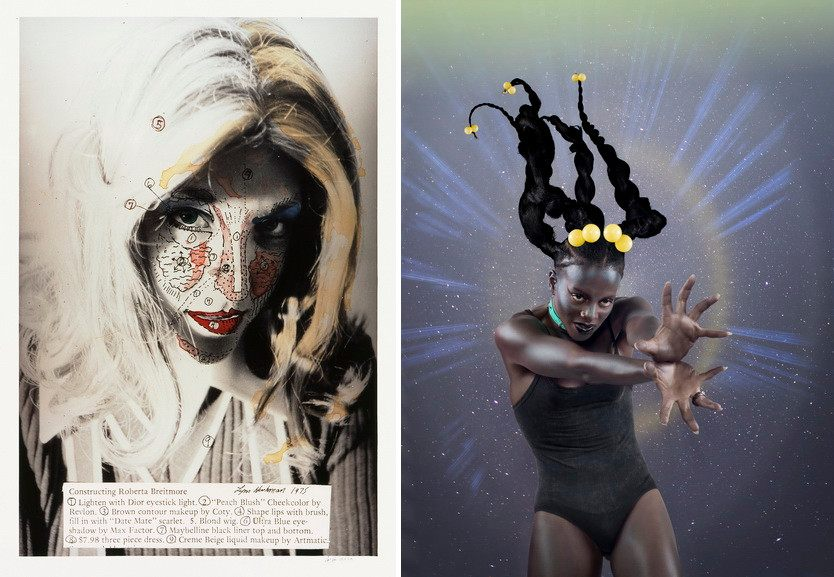 Left Lynn Hershman Leeson - Roberta Construction Chart Right Juliana Huxtable - Lil' Marvel