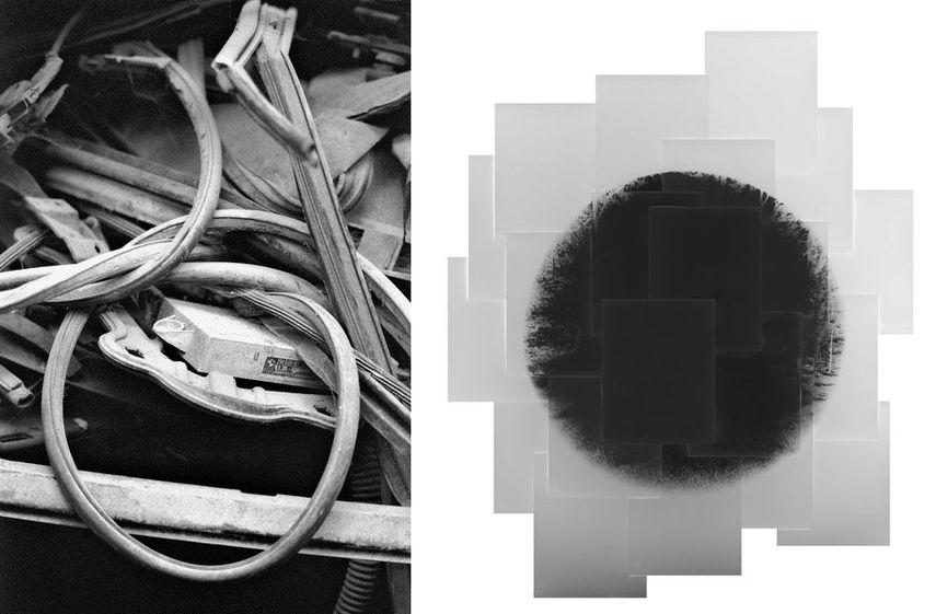 Left M, 2016 © Laurianne Bixhain Right Untitled, 2016 © Motohiro Takeda , IBASHO