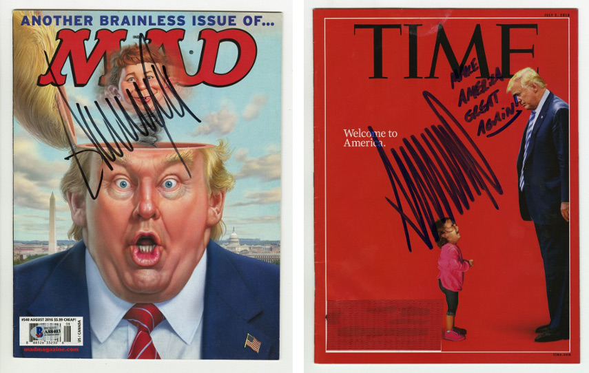 Mad Magazine, Brainless Issue, Time Magazine, Immigrant, July 2nd, 2018