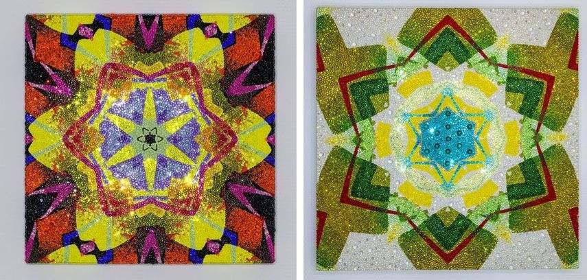 Left: MadC - Kaleidoscope 13:07-2016, 2016 / Right: MadC - Kaleidoscope 14:08-2016, 2016