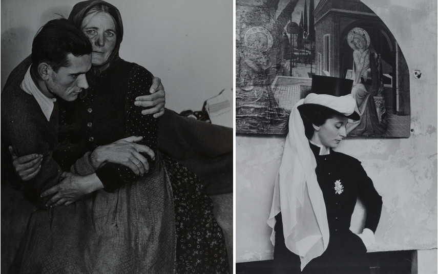 D'Ora - Left Woman Supporting an Ailing Man, 1945 - Right Benda de La Haye-Jousselin, 1955