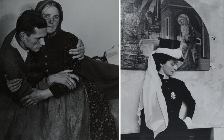 D'Ora - Left Woman Supporting an Ailing Man, 1945 - Right Benda de La Haye-Jousselin, 1955
