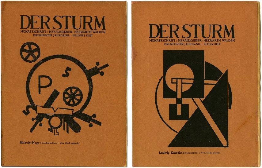 Magazine Cover by Laszlo Moholy-Nagy, 1922 / Magazine Cover by Lajos Kassák, 1922