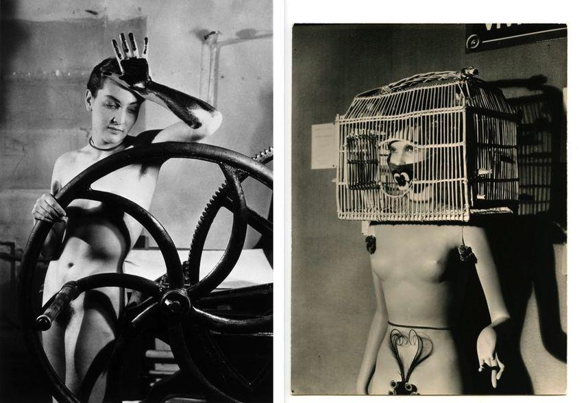 Erotique voilée, Meret Oppenheim à la presse chez Louis Marcoussis, 1980 circa, Resurrection des mannequins