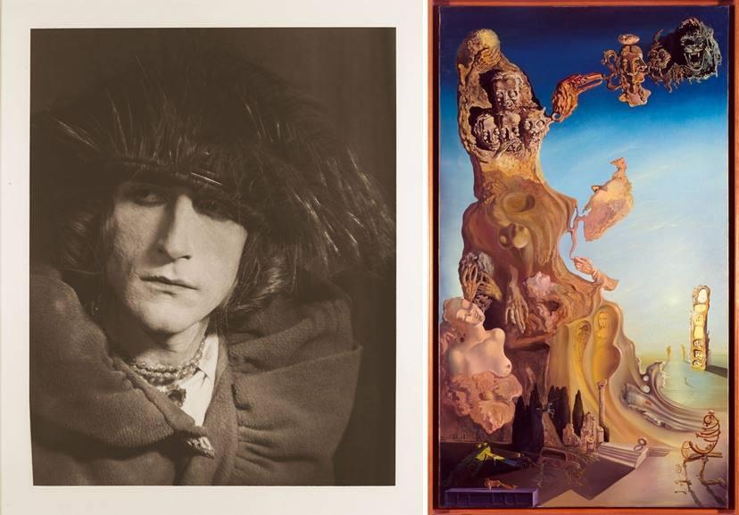 Left Man Ray - Portrait of Rrose Selavy Right Salvador Dali - La Mamoire