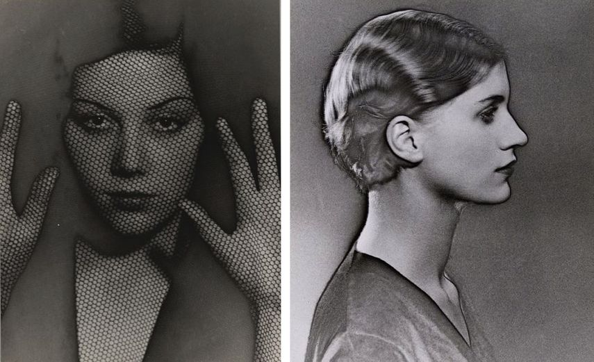 The Veil, 1930, Solarized Portrait of Lee Miller, 1929