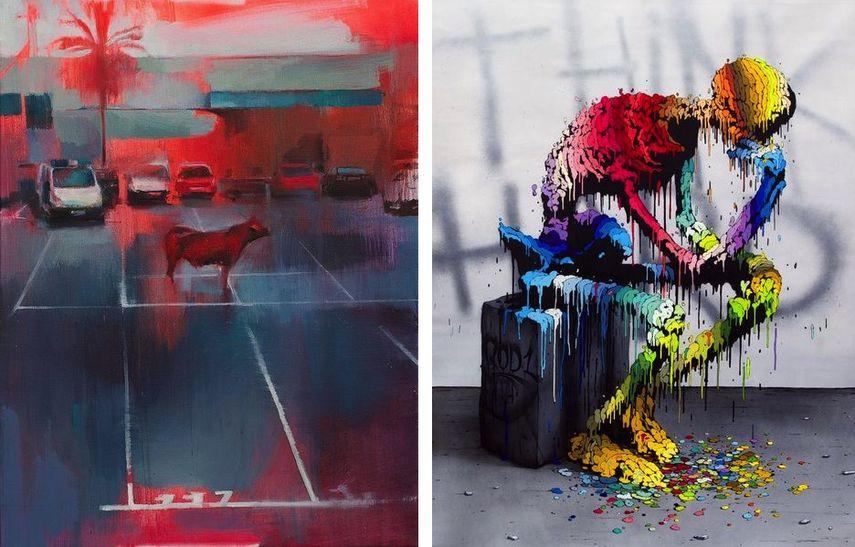Manolo Mesa - A coté de la ville, 2017; ROD1 - Canvas Brusk, 2015