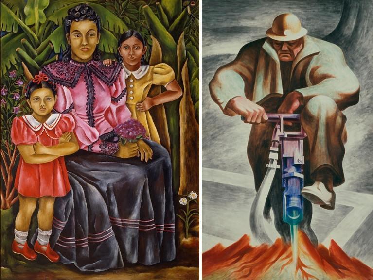 Left María Izquierdo - My Nieces Right Harold Lehman - The Driller