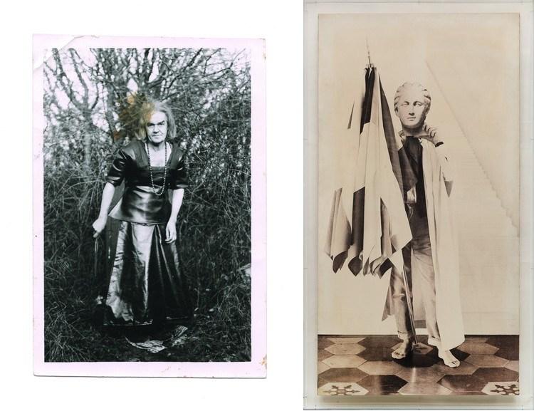Left Marcel Bascoulard - Pose 4, 1973 Right Gioulio Paolini - Delfo II, 1968