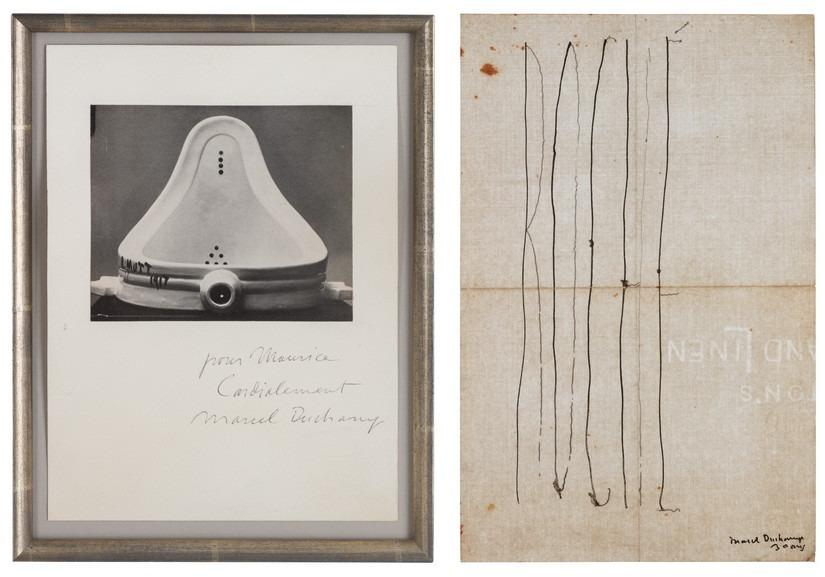 Left Marcel Duchamp - Untitled Right Marcel Duchamp - Place Card for Henri-Pierre Roché