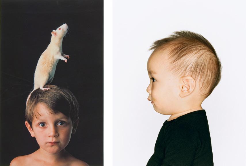 Left Maria Marshall - Future Perfect, 1998 Right Bettina von Zwehl - Profiles III, No. 6, 2005