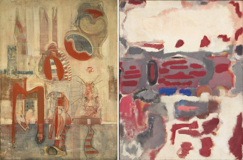 Left Mark Rothko - Room in Karnak Right Mark Rothko - No 2