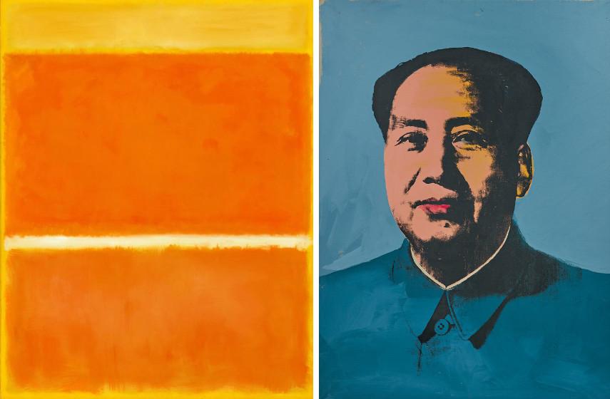 Mark Rothko - Saffron / Andy Warhol - Mao