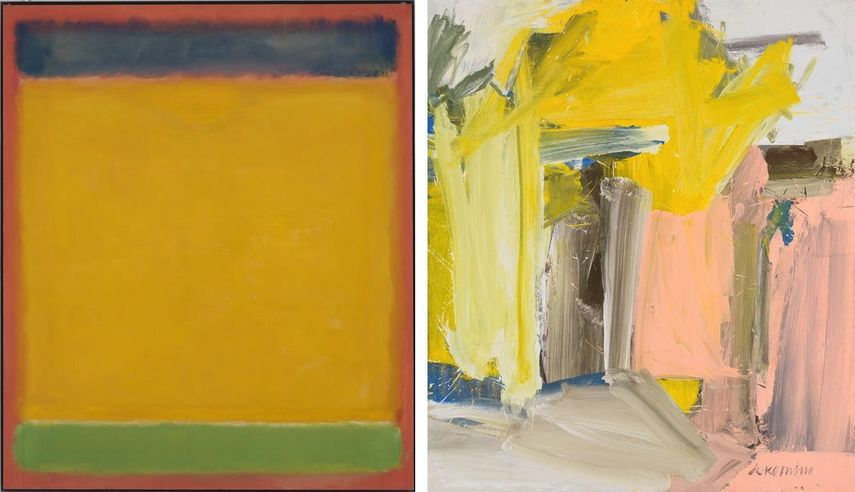 Mark Rothko - Untitled (Blue, Yellow, Green on Red), 1954, Willem de Kooning - Door to the River, 1960