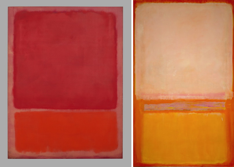 Left Mark Rothko - Untitled Red and Orange Right Mark Rothko - Untitled
